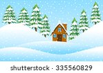 house on the edge of the forest ... | Shutterstock .eps vector #335560829