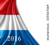 luxembourg flag of silk  number ... | Shutterstock . vector #335567069