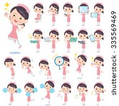 set of various poses of nurse 2   Shutterstock .eps vector #335569469
