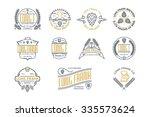 retro vintage beer labels and... | Shutterstock .eps vector #335573624