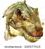 Dinosaur Drawing Watercolor....
