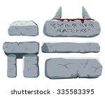 stones  blood  runic symbols | Shutterstock .eps vector #335583395