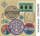 stamps set with words... | Shutterstock .eps vector #335586989