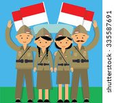 independence day hari pahlawan... | Shutterstock .eps vector #335587691