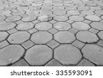 closeup brown brick floor... | Shutterstock . vector #335593091