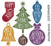 isolated set of christmas... | Shutterstock .eps vector #335599409