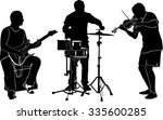 set of silhouettes of musicians | Shutterstock .eps vector #335600285