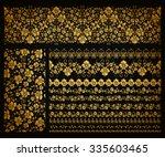 set of horizontal golden lace... | Shutterstock .eps vector #335603465