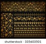 Set Of Horizontal Golden Lace...
