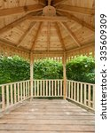 Inside Of Wooden Gazebo Under...
