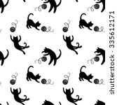 seamless pattern with cute... | Shutterstock .eps vector #335612171