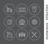 modern vector icon set for... | Shutterstock .eps vector #335615261