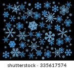 snowflake winter set. raster... | Shutterstock . vector #335617574