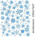 seamless winter background with ... | Shutterstock . vector #335617637