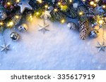 christmas background with a... | Shutterstock . vector #335617919