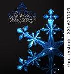 diamond snowflake blue   Shutterstock .eps vector #335621501