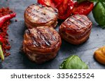 grilled steak filet mignon... | Shutterstock . vector #335625524