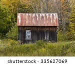 Old Wooden Shack With Two...