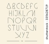 vector linear font   simple... | Shutterstock .eps vector #335628719