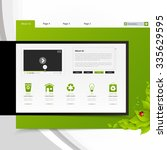 eco website design template.