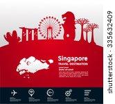 singapore landmark vector...   Shutterstock .eps vector #335632409