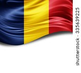 romania flag of silk with... | Shutterstock . vector #335639225