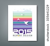 cover annual report flying... | Shutterstock .eps vector #335641229