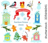 vector collection of christmas... | Shutterstock .eps vector #335646041