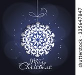 christmas greeting card. merry... | Shutterstock .eps vector #335647847