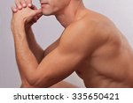 male laser epilation.... | Shutterstock . vector #335650421