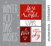 bright set with xmas wishes.... | Shutterstock .eps vector #335650691