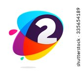 number two with ellipses... | Shutterstock .eps vector #335654189