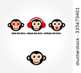 see no evil  hear no evil ... | Shutterstock .eps vector #335673401