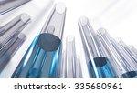 glass laboratory test tubes...   Shutterstock . vector #335680961