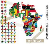 africa map with flags  africa... | Shutterstock .eps vector #335688131