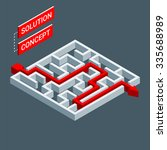 isometric maze  labyrinth...   Shutterstock .eps vector #335688989