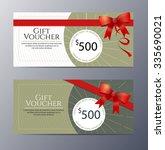 gift voucher template with... | Shutterstock .eps vector #335690021