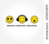 emoticon three monkeys vector | Shutterstock .eps vector #335692859