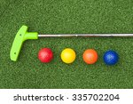 Green Club And Balls For Putt...