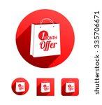 1 month offer shopping bag | Shutterstock .eps vector #335706671
