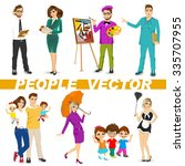 set of diverse people... | Shutterstock .eps vector #335707955
