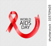 1 december world aids day... | Shutterstock .eps vector #335709605