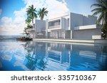 luxury modern white house... | Shutterstock . vector #335710367
