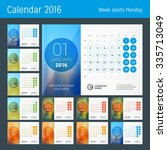 Desk Calendar For 2016 Year....