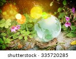 glass globe concept for... | Shutterstock . vector #335720285