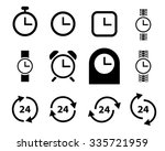 set of watch and clock icons...