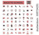 back to school  teacher ... | Shutterstock .eps vector #335724251