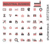 industrial business  factory ... | Shutterstock .eps vector #335725364