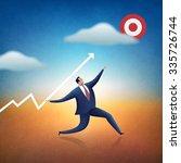 target. business illustration. | Shutterstock . vector #335726744