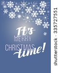 merry christmas  background... | Shutterstock .eps vector #335727551